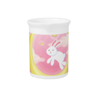 Moon Bunny Pink Pitcher
