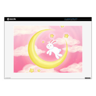 Moon Bunny Pink Skin For Laptop