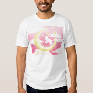 Moon Bunny Pink T Shirt