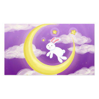 Moon Bunny Purple Double-Sided Standard Business Cards (Pack Of 100)
