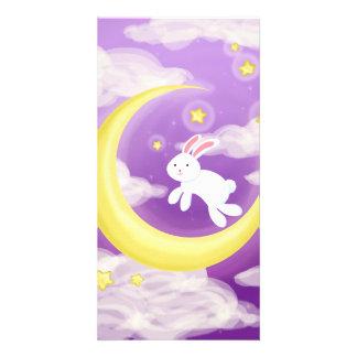 Moon Bunny Purple Card