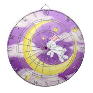 Moon Bunny Purple Dart Board