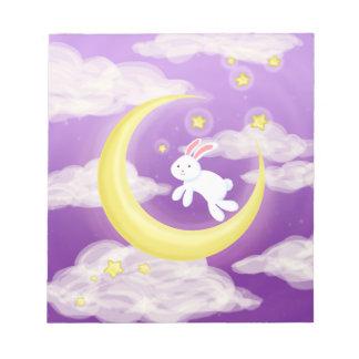 Moon Bunny Purple Notepad