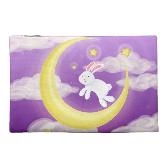 Moon Bunny Purple Travel Accessories Bags