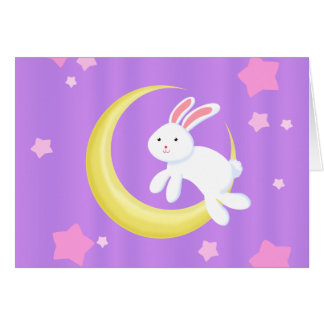 Moon Bunny Stars Card