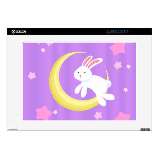 Moon Bunny Stars Decals For Laptops
