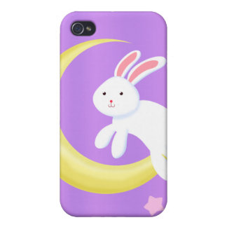 Moon Bunny Stars iPhone 4/4S Cover