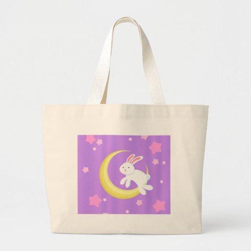 Moon Bunny Stars Jumbo Tote Bag