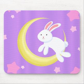 Moon Bunny Stars Mouse Pad