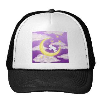 Moon Buny Purple Trucker Hat