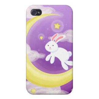 Moon Buny Purple iPhone 4/4S Cases