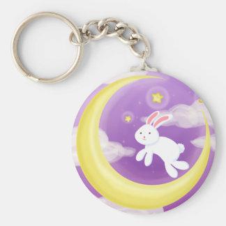 Moon Buny Purple Keychain