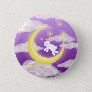 Moon Buny Purple Pinback Button