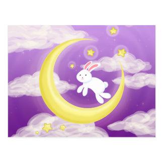 Moon Buny Purple Postcard