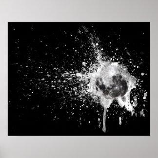 Moon Burst Poster