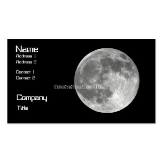 Moon Business Card