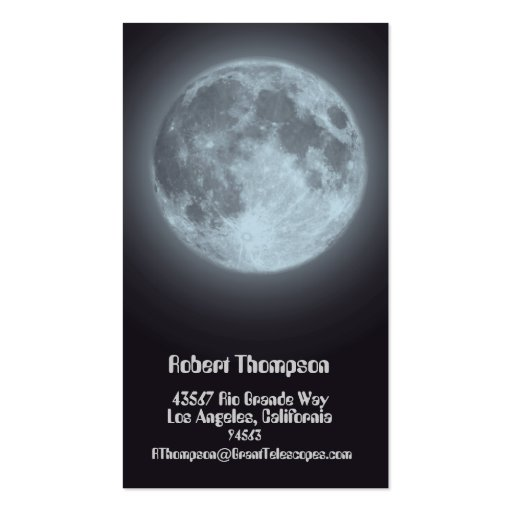 Moon Business or Personal Card Business Card Templates