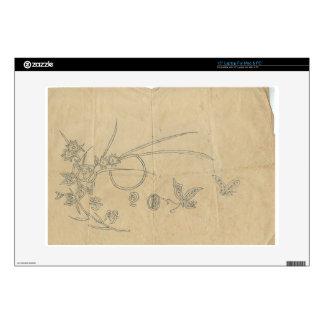 """moon butterfly flower 15"""" laptop skins"""