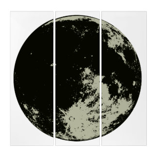 moon canvas triptych