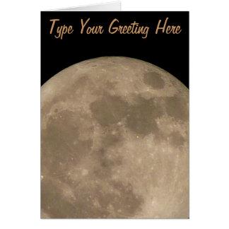 Moon Card Romantic Full Moon Custom Greeting Card