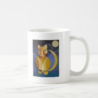 Moon Cat Coffee Mugs