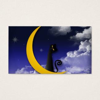 moon cat design business card