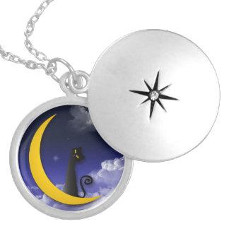moon cat design pendant