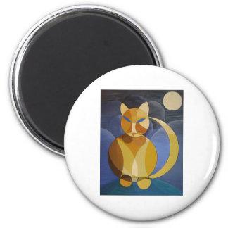 Moon Cat Fridge Magnets