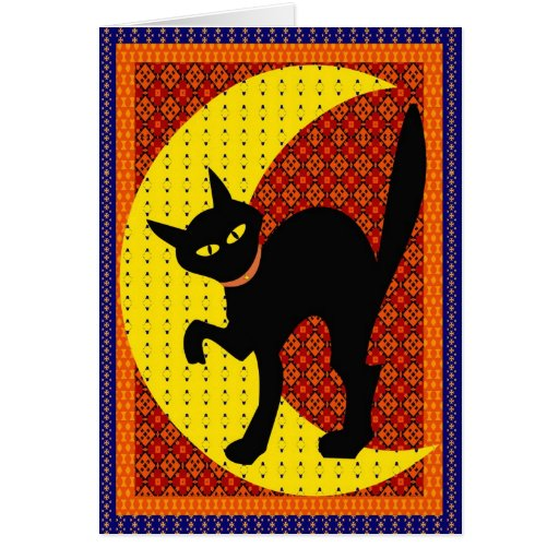 Moon cat greeting cards