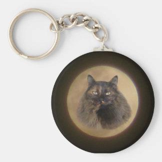 Moon Cat Keychain