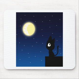 Moon Cat Mouse Pad