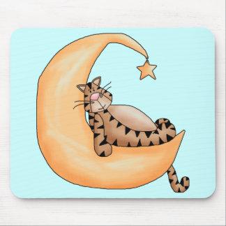 Moon Cat Nap Mouse Pad