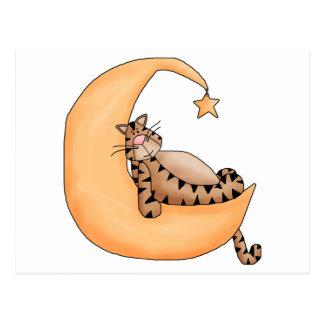 Moon Cat Nap Postcard