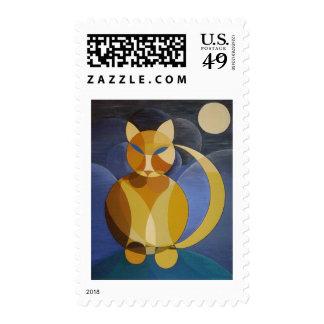 Moon Cat Stamp