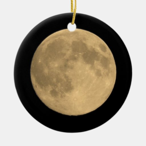 moon ceramic ornament