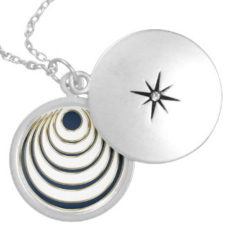 Moon charm, Luna amulet - intuition, magic Round Locket Necklace