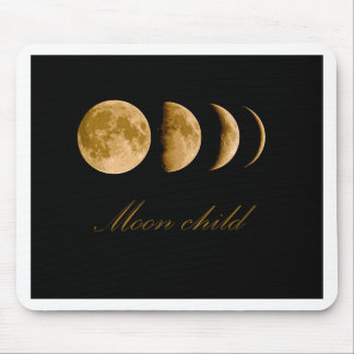Moon child mouse pad