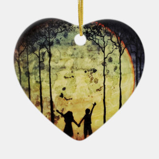 Moon Children Ceramic Ornament