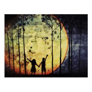 Moon Children Postcard