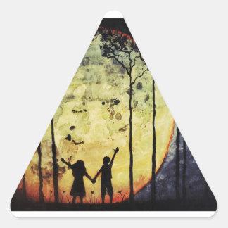 Moon Children Triangle Sticker