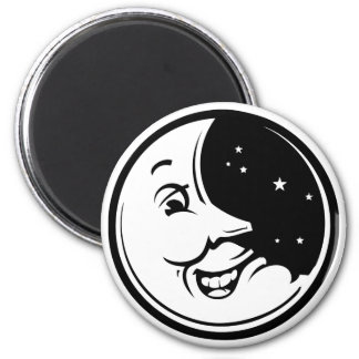 Moon Chuckle 2 Inch Round Magnet