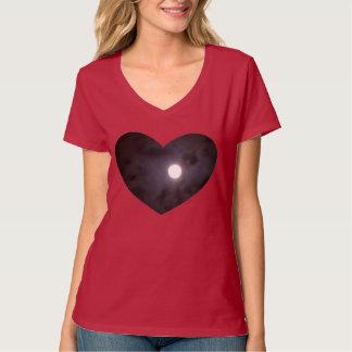 Moon Cloud Heart V-Neck Tshirt Customizable Design