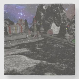 Moon Colony Stone Coaster