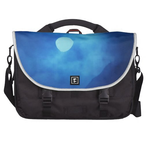 MOON covered with CLOUDS - NIGHT SKY Bags For Laptop