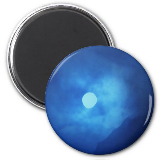 MOON covered with CLOUDS - NIGHT SKY Fridge Magnets