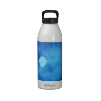 MOON covered with CLOUDS - NIGHT SKY Water Bottle