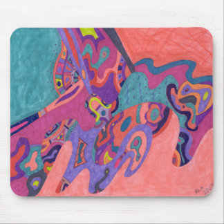 Moon Crashers, abstract art Mouse Pad