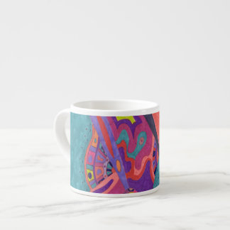 Moon Crashers, abstract art Espresso Cups