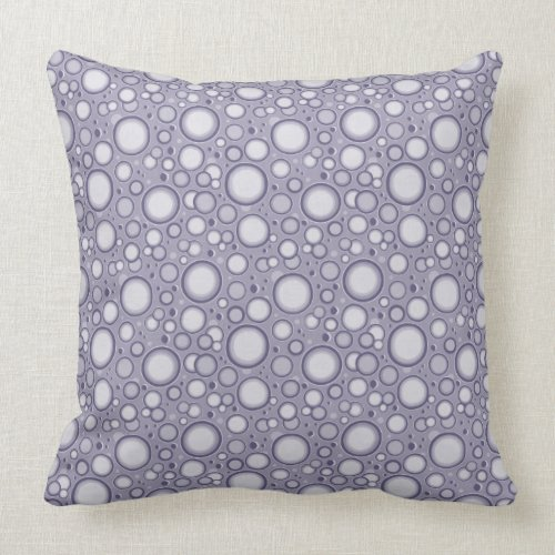 Moon Crater Pattern Gray Purple Throw Pillow