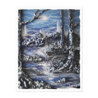 Moon Creek Falls Canvas Print